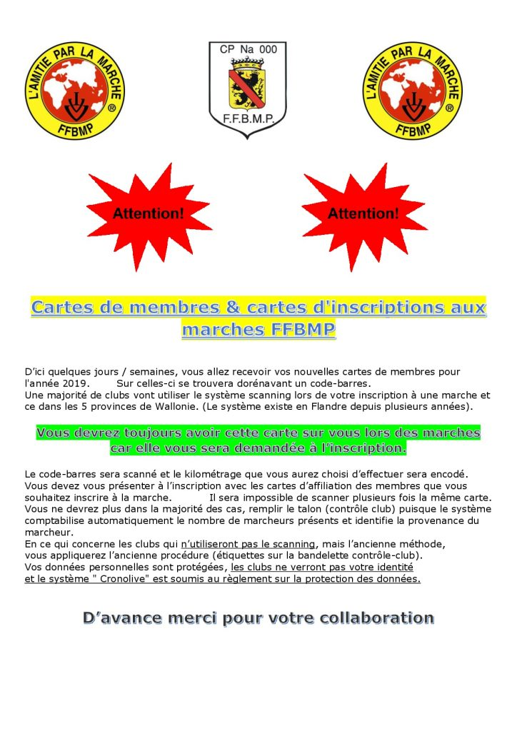 Cartes Inscriptions 2019